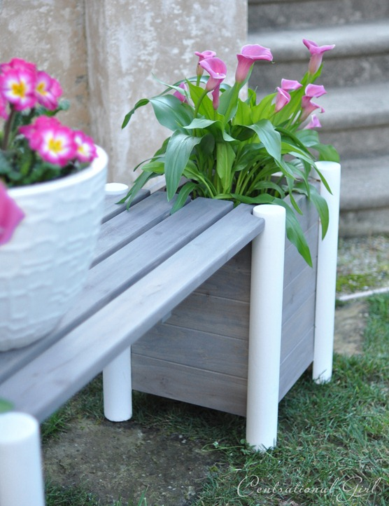 weathered gray planter