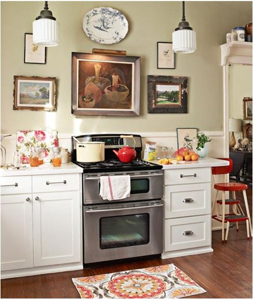 artwork in kitchen country living