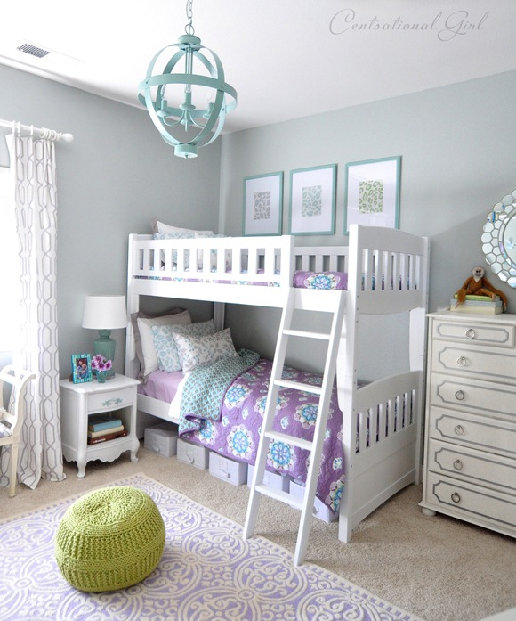 Lavender blue girl s room centsational girl for Blue and green girls bedroom ideas