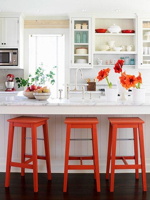 bright painted stools bhg