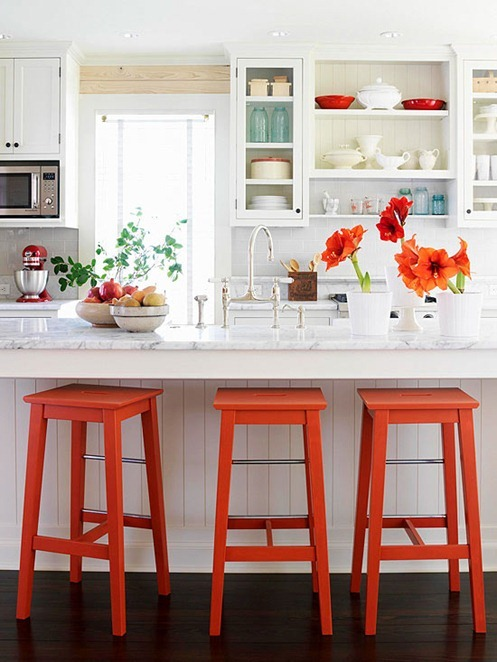 bright painted stools bhg