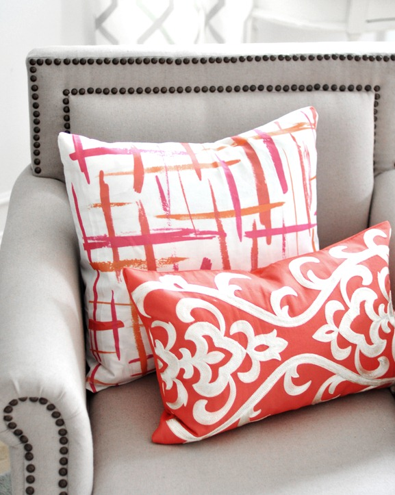 brushstrokes pillow