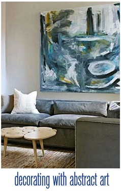 decorating with abstract art