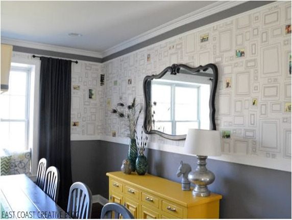 diy dining wallpaper eastcoastcreative