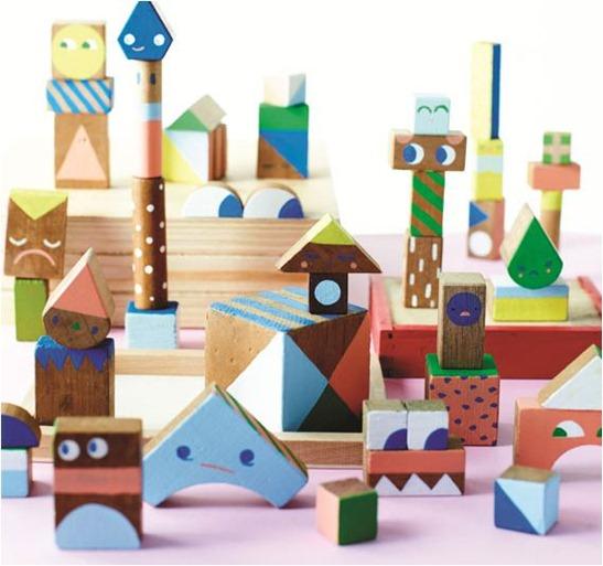 diy wooden block family etsy