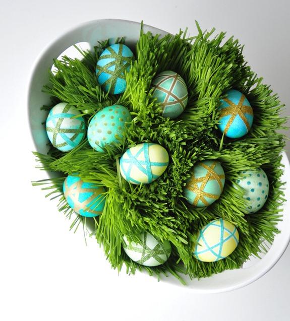 eggs in wheat grass