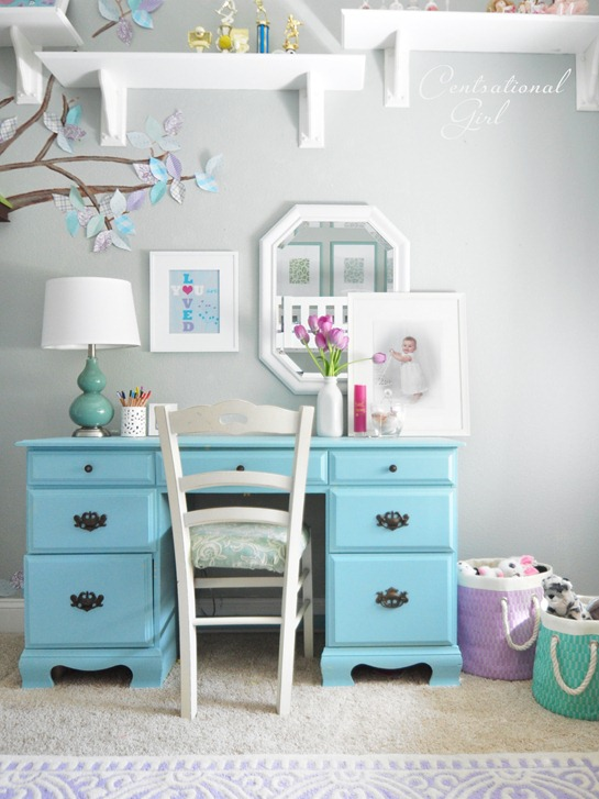Centsational Girl » Blog Archive Lavender + Blue Girl's Room ...