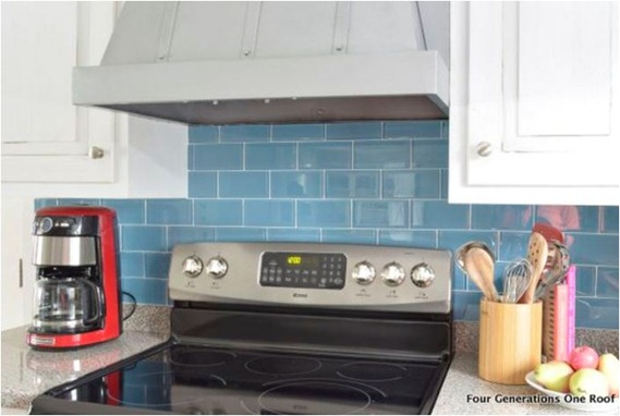 glass tile backsplash in rental fourgenerationsoneroof