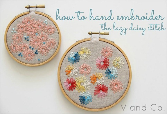 hand embroider v and co