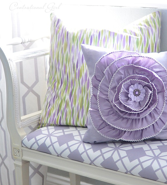 lavender flower pillow
