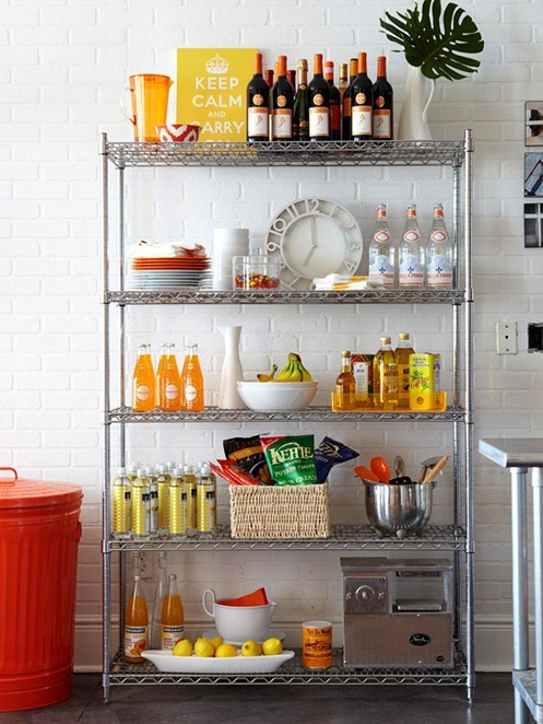 Storage Solution Simple Open Kitchen Shelves: Solutions For Renters: Kitchens