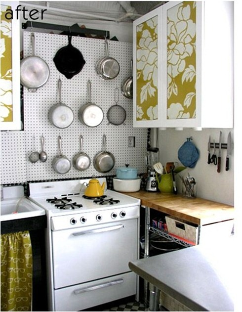 paper covered kitchen cabinets