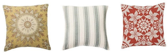 pottery barn pillows