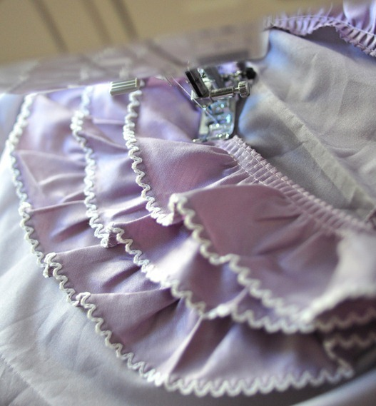 sew ruffle in circle
