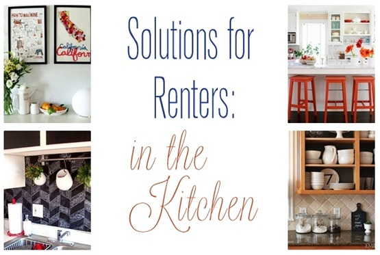 solutions for renters in the kitchen