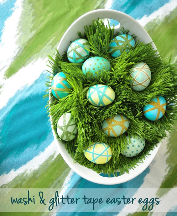 washi wrapped easter eggs
