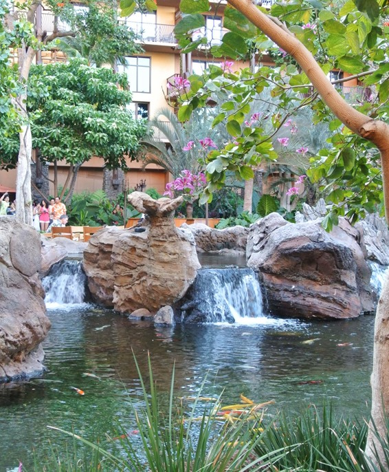 aulani grounds and waterfall