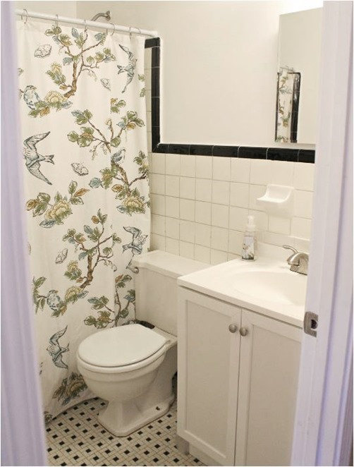 botanical shower curtain tenjune