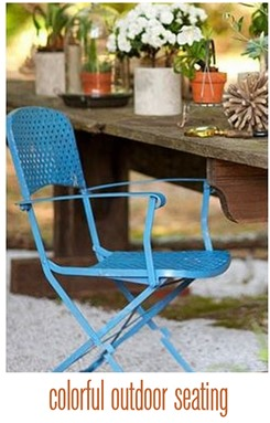 colorful outdoor seating