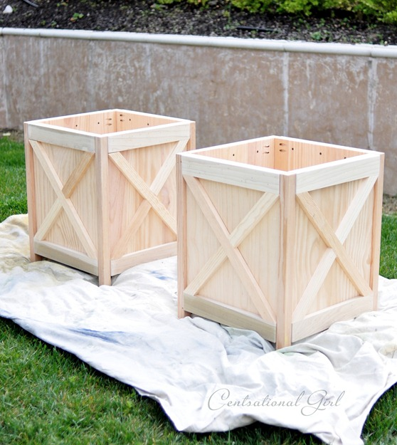 Centsational Girl » Blog Archive DIY Criss Cross Outdoor Planters