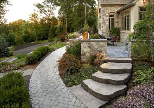 curved walkway landscape plus