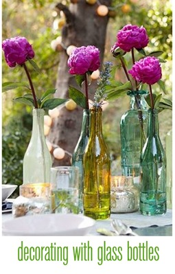 decorating with glass bottles
