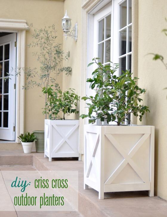 diy criss cross planters