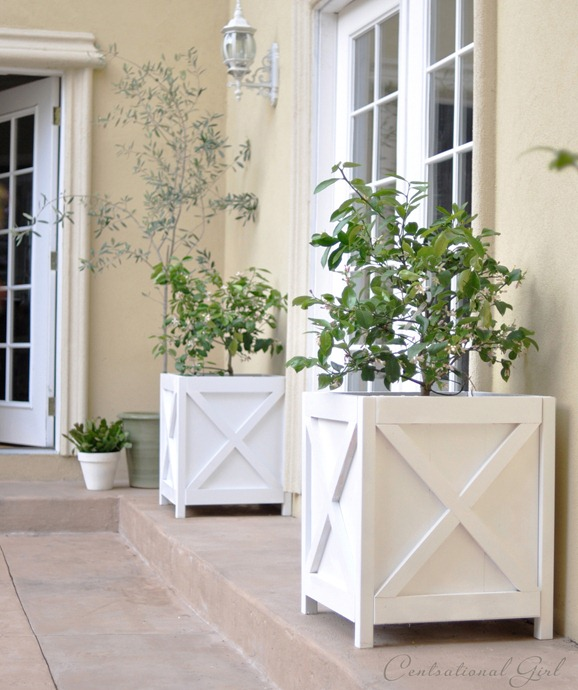 diy criss cross x pattern planters