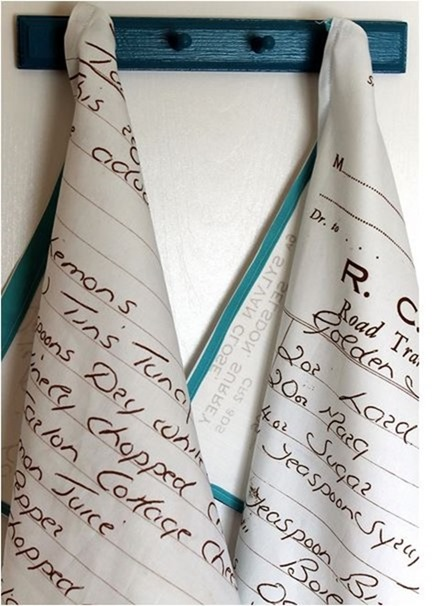 favorite recipe tea towel