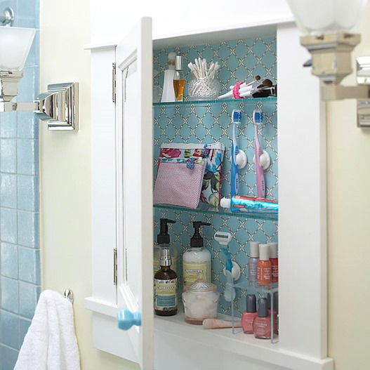 papered cabinet bhg
