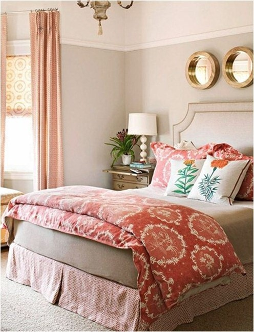 pattern mix in bedroom bhg