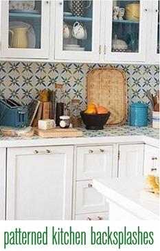patterned kitchen backsplashes