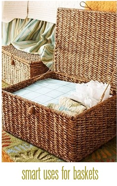 smart uses for baskets