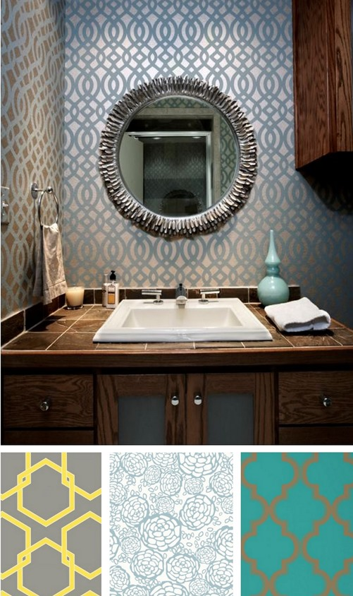 Solutions for renters bathrooms centsational girl - Removable wallpaper for renters ...