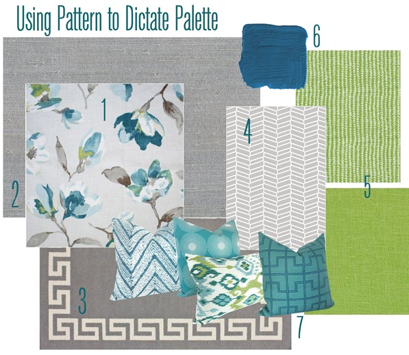 using pattern to dictate palette