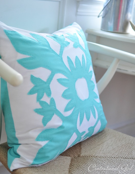 aloha applique pillow