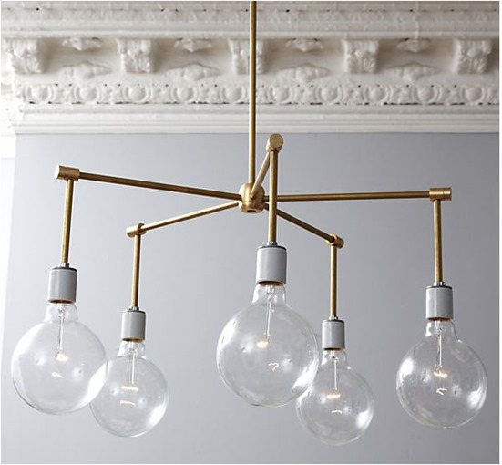brass chandelier diy onekingslane