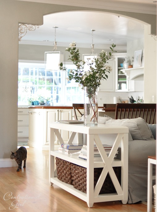 console table in family room