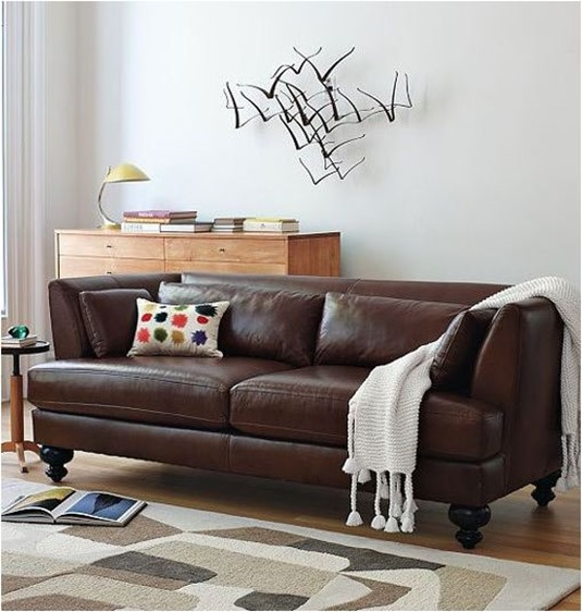 essex leather west elm