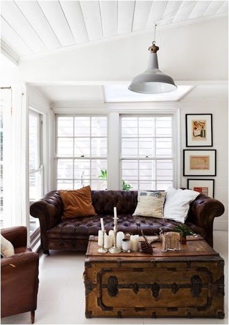 Decorating Around A Leather Sofa Centsational Style