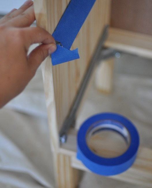 scotchblue tape for internal hardware