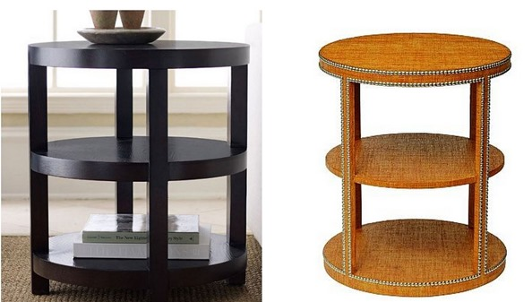 textured tiered table