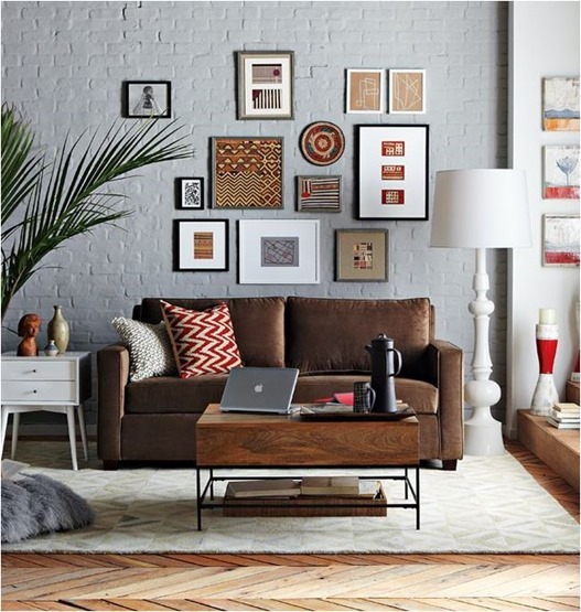 Wall Decor With Leather Furniture : Decorating around a leather sofa centsational girl