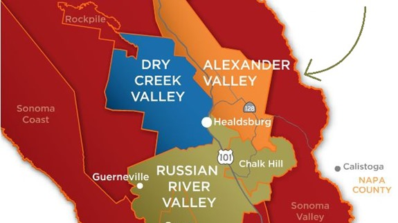 alexander valley wineries map