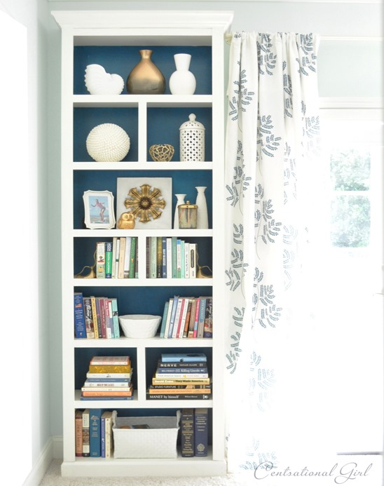 billy bookcase in bedroom