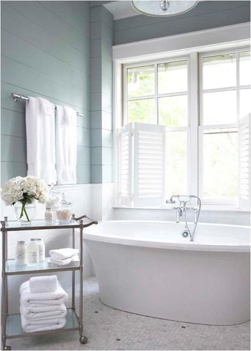 blue wall paneling linda mcdougald