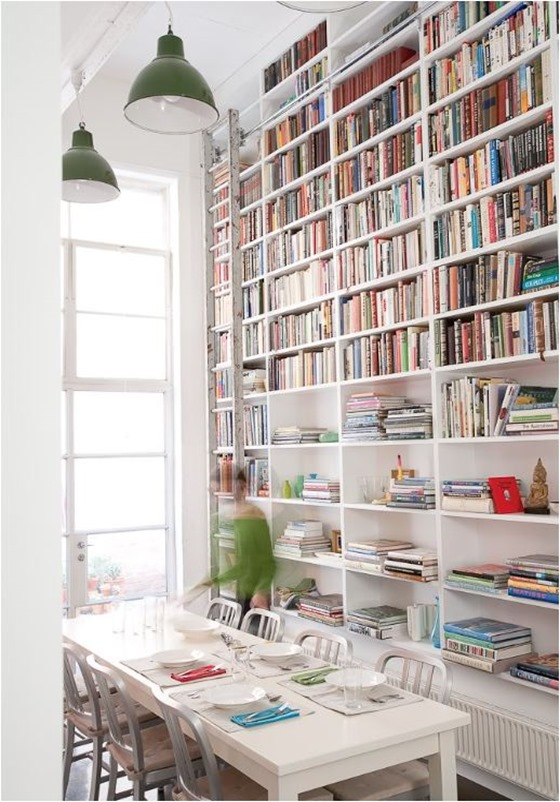 dining room bookshelves