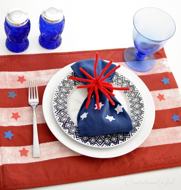 fourth of july place setting centsational girl