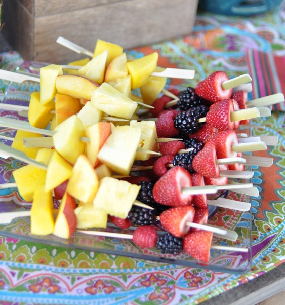 fruit spears for sangria