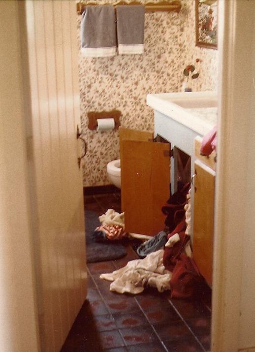 hamper in bathroom